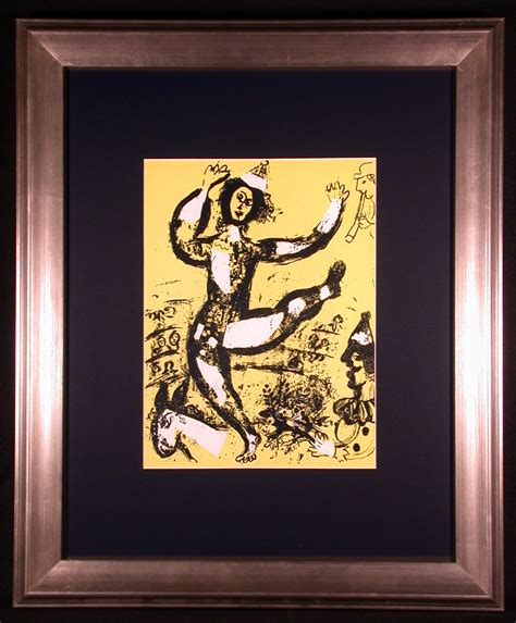 Circus in Yellow Original Color Lithograph by Marc Chagall