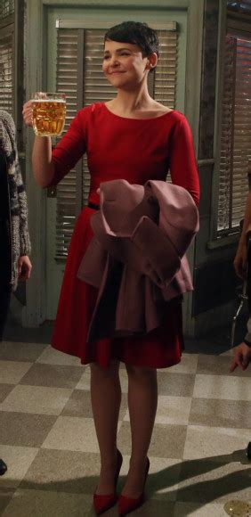 WornOnTV: Mary's red elbow sleeve dress on Once Upon A