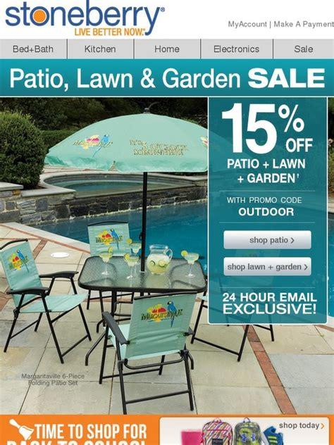 Stoneberry: 15% Off Patio, Lawn + Garden - TODAY ONLY