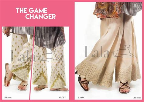 Latest Embroidered Capri Pants Collection By Lala Textile