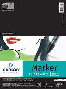 Canson Artist Series Pro Layout Marker Paper Pad, 9x12